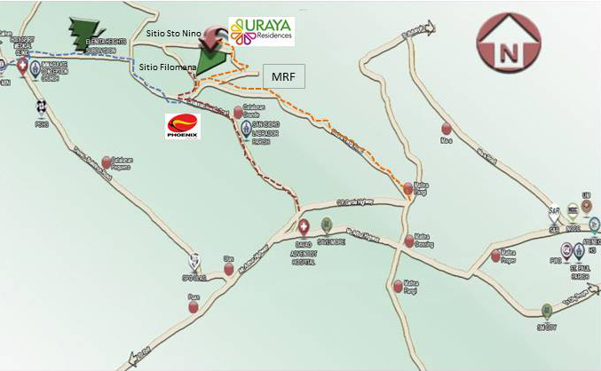 URAYA Residences Location Map