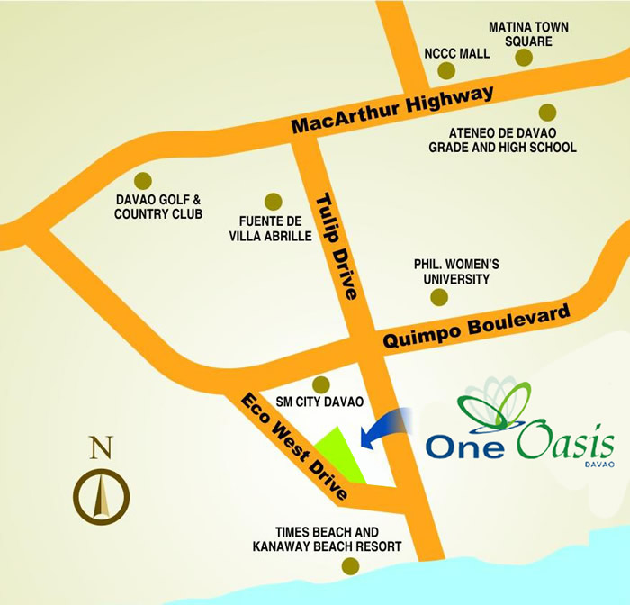 One Oasis Condominium Furnished  2 Bedroom Unit, Davao City For Sale