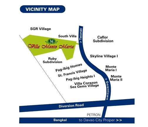 Villa Monte Maria Location Map