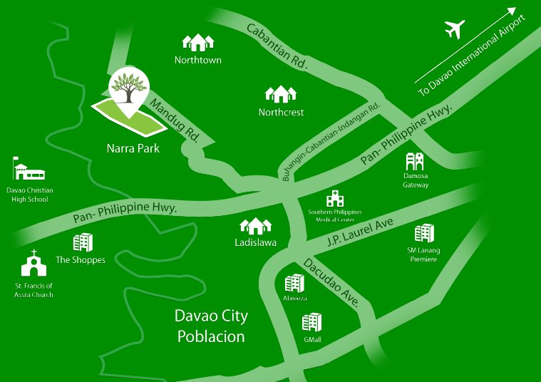 Narra Park Residences Location Map
