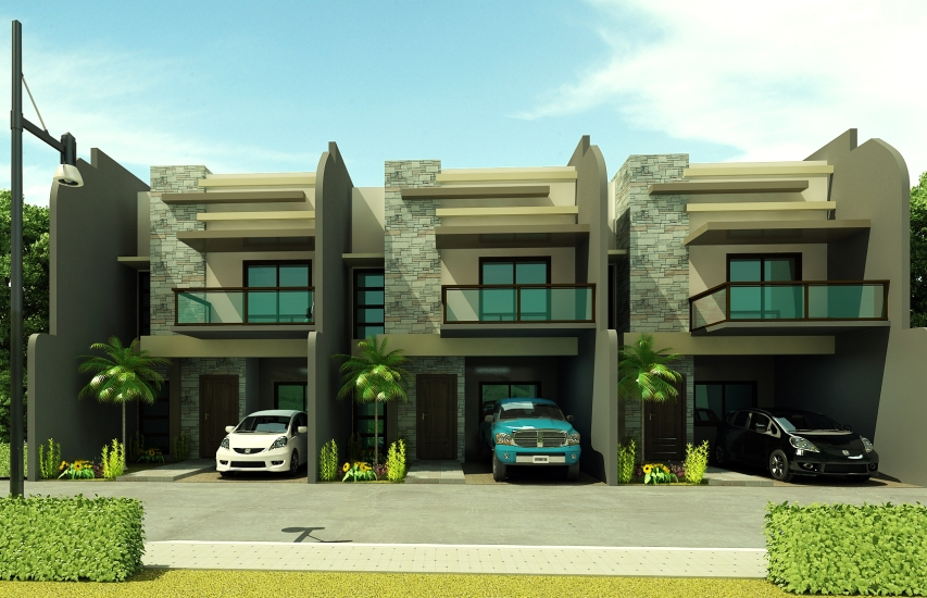 Cdmdr474 four 4 bedroom townhouse near sm mall ecoland for Four bedroom townhouse